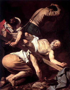 Caravaggio-Crucifixion_of_Peter1