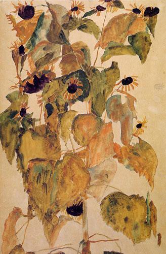 EgonSchieleSunflowers1